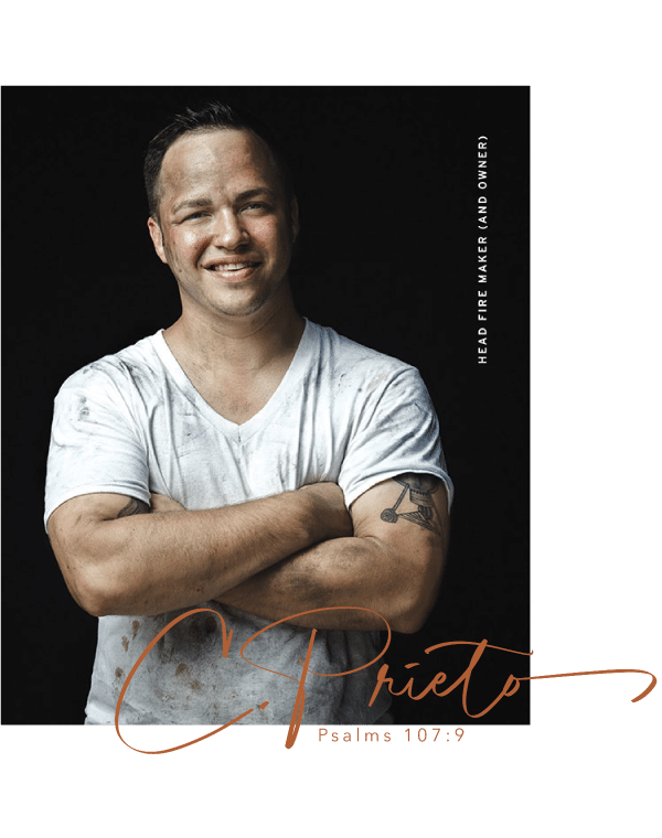 Christopher Prieto is a champion pitmaster, book author, barbecue judge, teacher and barbecue eating expert.
